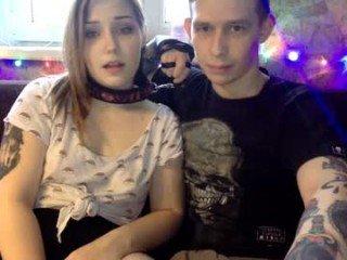 Webcam Belle - sweetandpeter cam girl gets her ass hard fucked by her partner