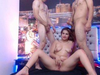 Webcam Belle - grouphardhot spanish cam babe gets gang fucked double penetration style on camera