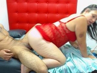 Webcam Belle - latcouple4fun spanish cam babe accepts hot cum inside her pussy