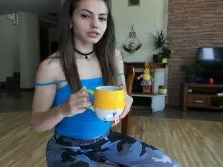 Webcam Belle - bubblekush7 european cam babe with small tits goes doggie style online