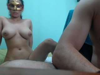 Webcam Belle - dirtycouple02 brunette cam girl with big tits gets her pussy fucked from behind